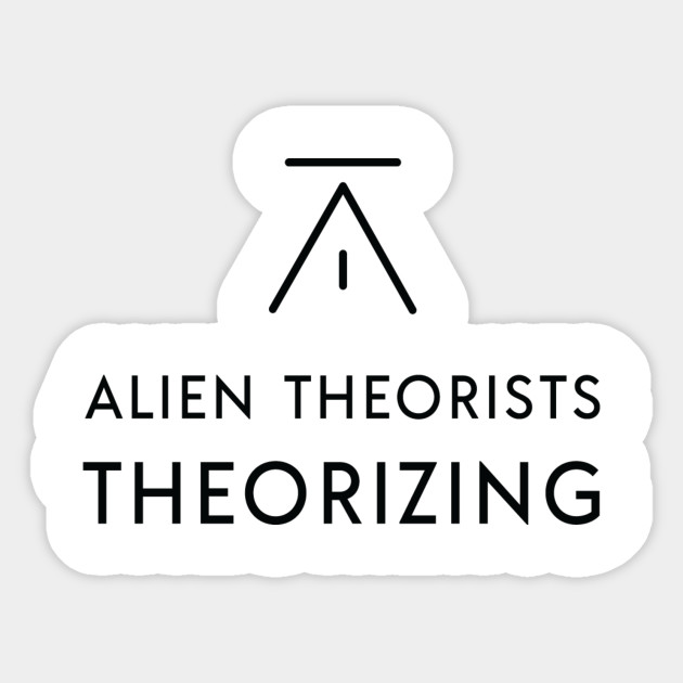 Alien Theorists Theorizing Podcast Logo With Text Black Alien