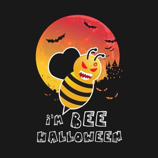 Im A Bee Halloween T Shirt Funny Bees Moon Tee Im A Bee Halloween