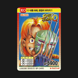 Vega (Balrog) Korean Trading Card - Street Fighter t-shirts