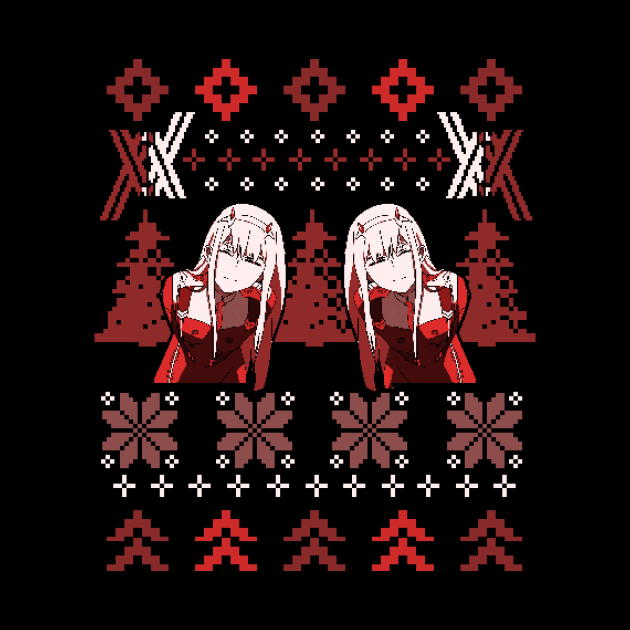 Zero Two Christmas Sweater | Darling in the Franxx