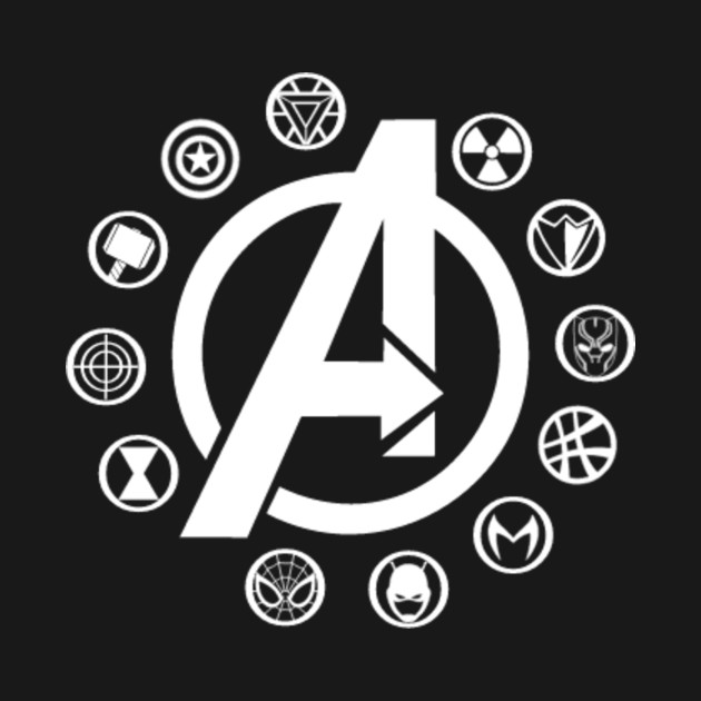 Avengers Multi Symbols Avengers T Shirt Teepublic