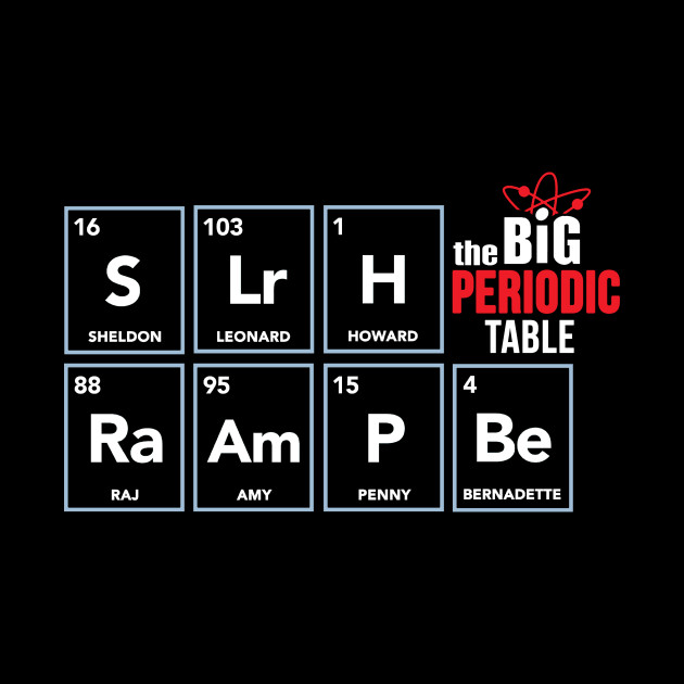 The Big Periodic Table - Big Bang Theory Shirt