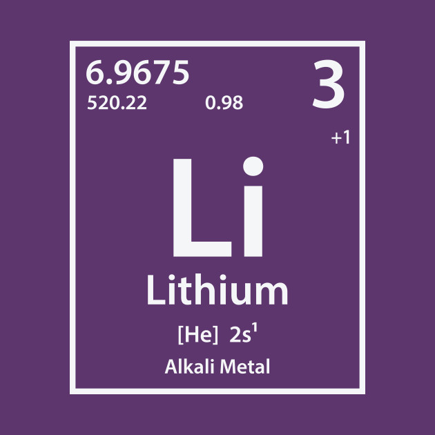 Lithium Element Lithium T Shirt Teepublic
