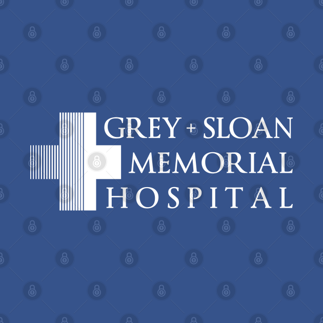 Grey + Sloan Memorial Hospital Logo   White Print