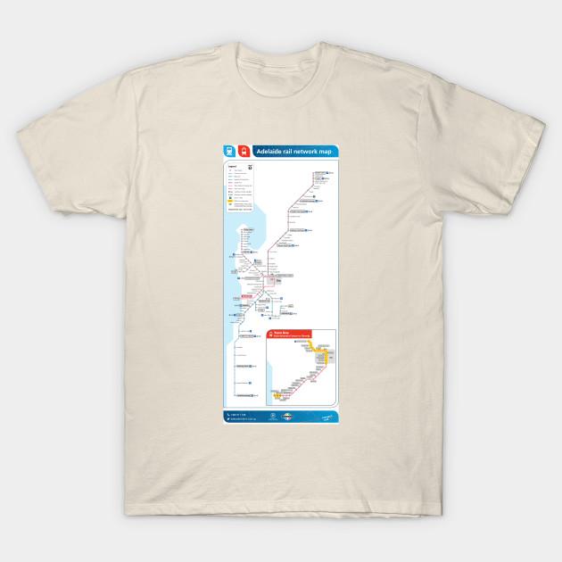 Adelaide - Australia - Rail Map - HD