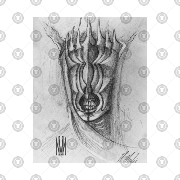 Mouth of Sauron (Black and White)