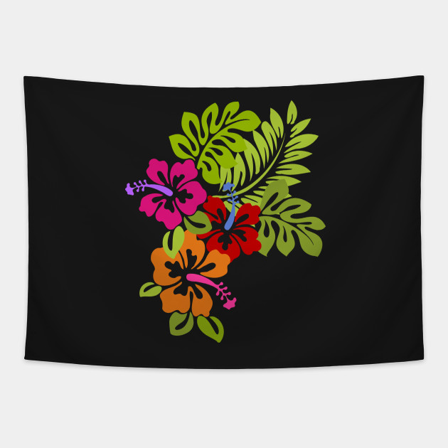 Tropical Hibiscus Flowers Bouquet Hibiscus Flower Tapestry