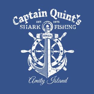 Captain Quint's Shark Fishing t-shirts