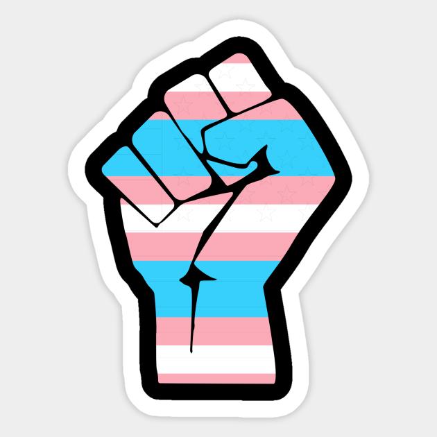 Resist Fist Transgender Flag Trans Pride Transgender Pride Sticker Teepublic