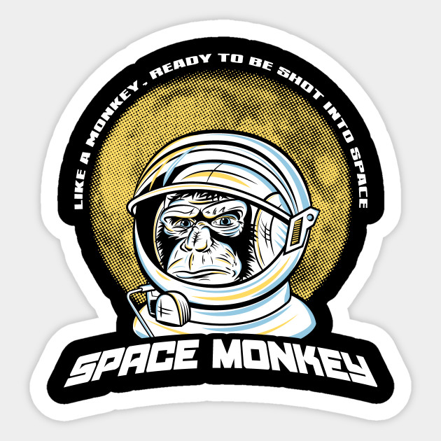 Space Monkey Fight Club Sticker Teepublic