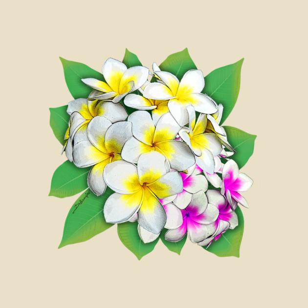 plumeria flowers bouquet plumeria flowers t shirt teepublic