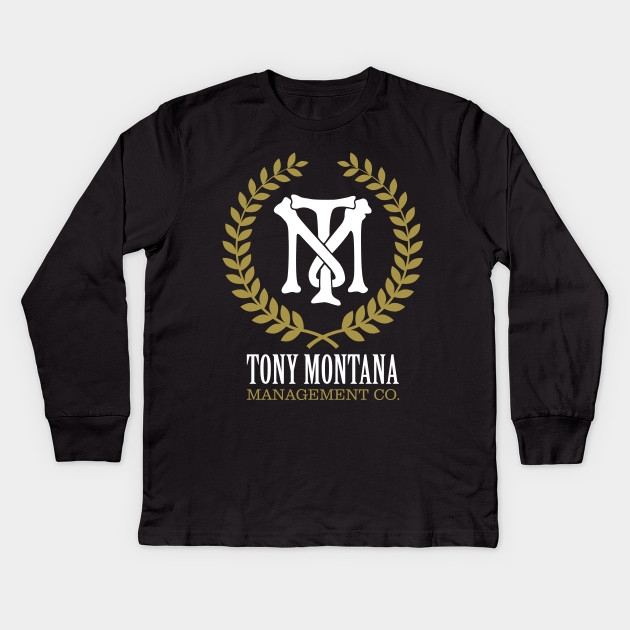 Tony Montana Management Co Scarface Kids Long Sleeve T Shirt