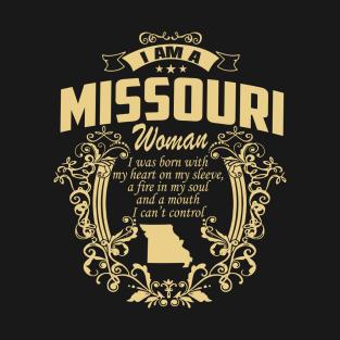 I AM A Missouri WOMAN t-shirts