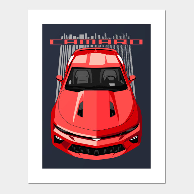 6th Gen Camaro >> Camaro Ss 6th Gen Red Camaro Posters And Art Prints Teepublic