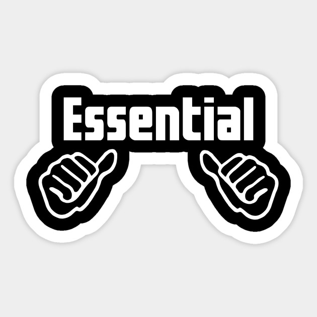Essential Worker - Essential Employee Meme - Sticker ...