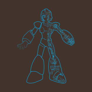 Mega Man X Schematic t-shirts