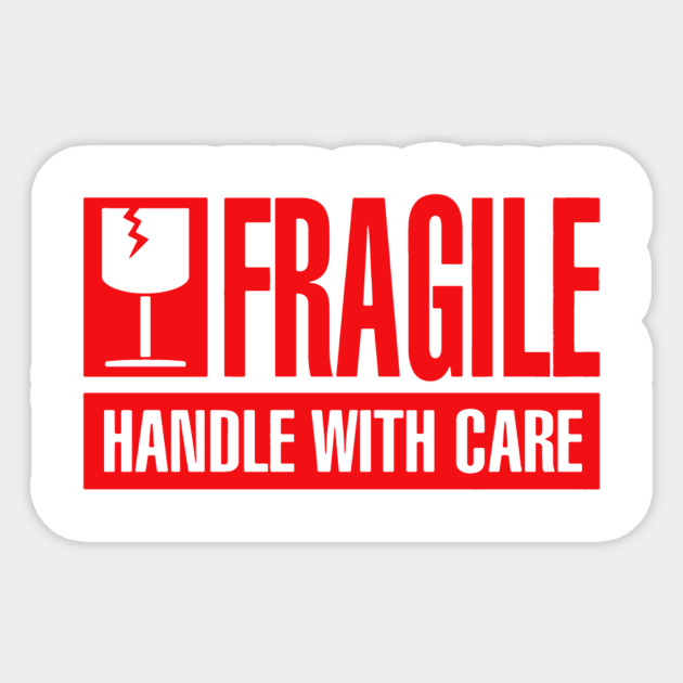 It is a picture of Trust Fragile Stickers Printable