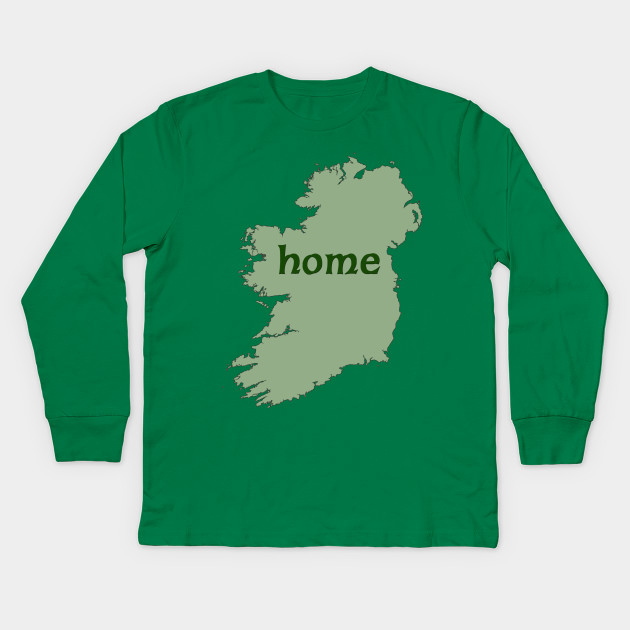 Kids Map Of Ireland.Irish Map With Word Home Ireland Kids Long Sleeve T Shirt
