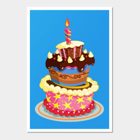 Birthday Cake Posters And Art Prints Teepublic