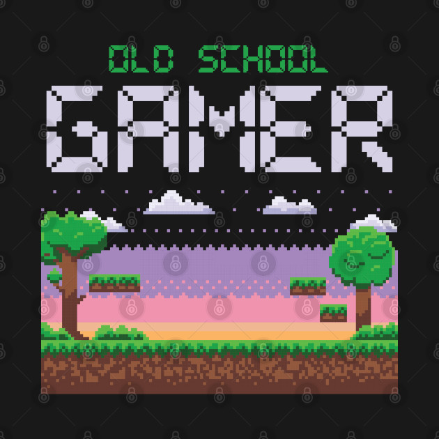 OLD SCHOOL GAMER Video Game Player Gift