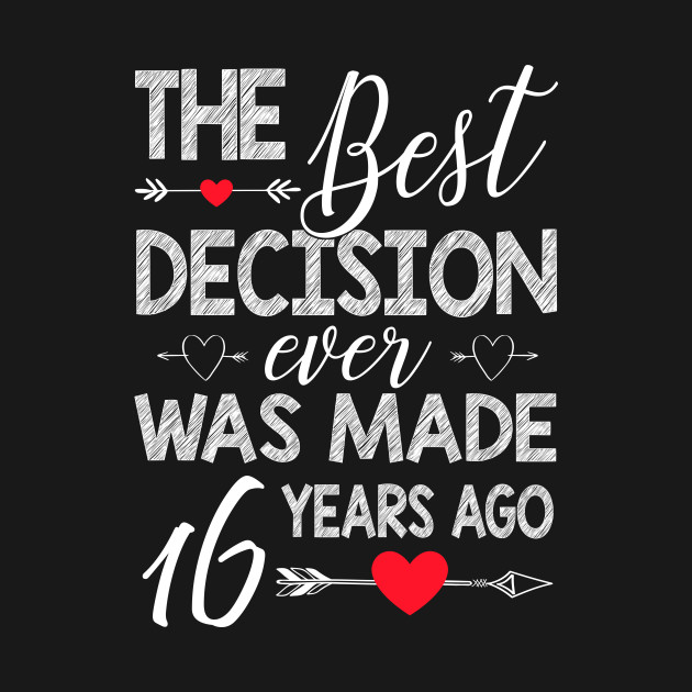 16th Wedding Anniversary Shirt For Couple - 16th Wedding ...