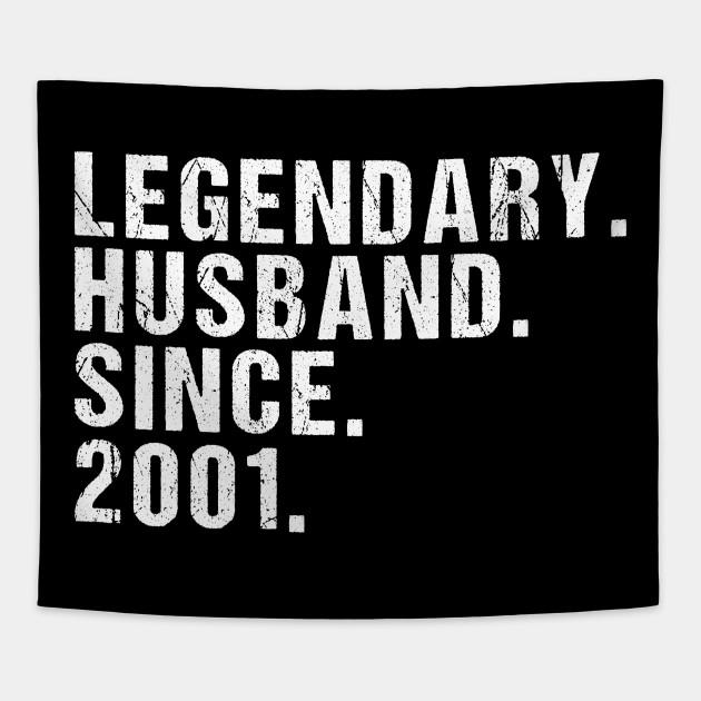 Herren Legendary Husband Since 2001 Geschenk Zum 18 Hochzeitstag Design