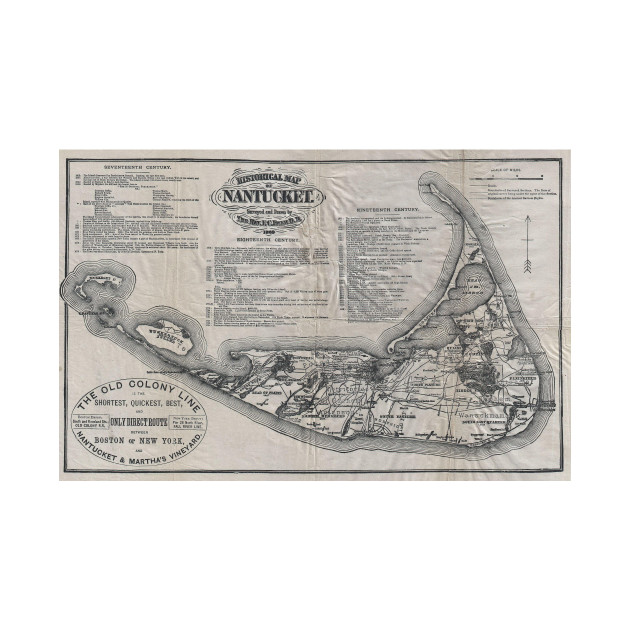 Vintage Nantucket Map