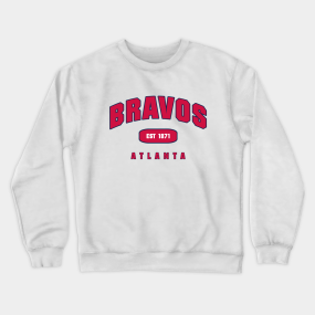 the best attitude a6ef0 6e675 Atlanta Braves Crewneck Sweatshirts | TeePublic