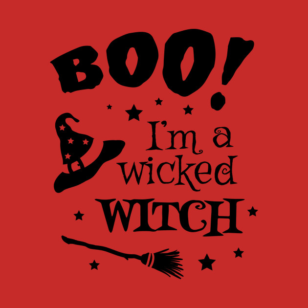 Boo! I'm a Wicked Witch Hat and Broomstick Halloween