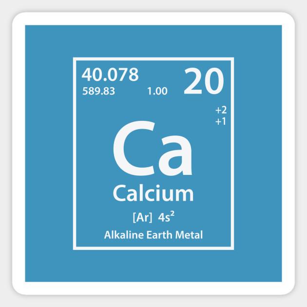 Calcium Element Calcium Sticker Teepublic