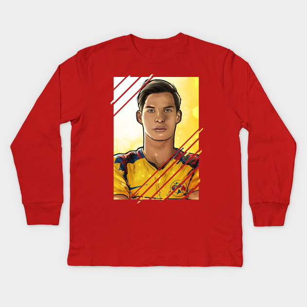 1a4efeff5 Diego Lainez America - Football - Kids Long Sleeve T-Shirt