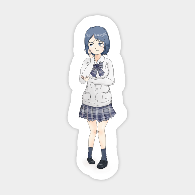 Kawaii Anime Schoolgirl Manga And Anime Anime Sticker Teepublic