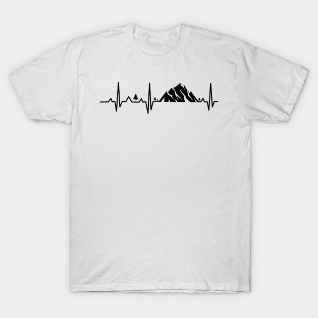 Cool Sweatshirt Hiking Heartbeat Tee Shirt Hoodie