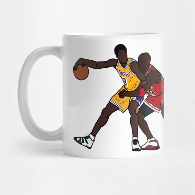 b183c677bdd1 Kobe Bryant VS Michael Jordan GOAT - Los Angeles Lakers Chicago Bulls Mug