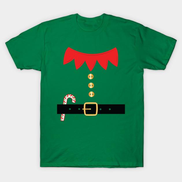 Santa Elf Costume Holiday Christmas Cute T-Shirt