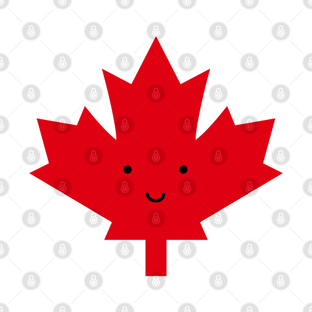 Happy Canada Day Red Maple Leaf
