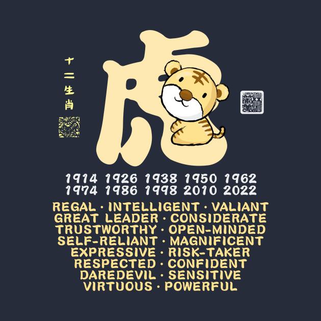 CUTE TIGER CHINESE ZODIAC ANIMAL PERSONALITY TRAIT