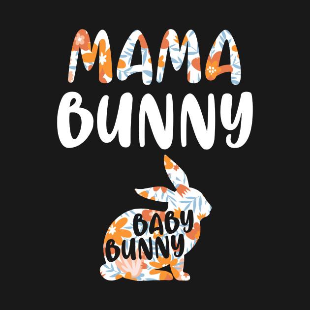 Womens Mama Bunny Baby Bunny Tshirt - Funny Couple Gift Shirt tee