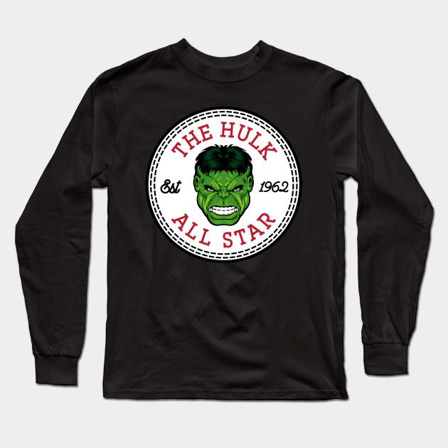 fea216fd24b010 The Incredible Hulk All Star Converse Logo - Hulk - Camiseta Manga ...