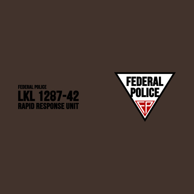 Federal police total recall t shirt teepublic