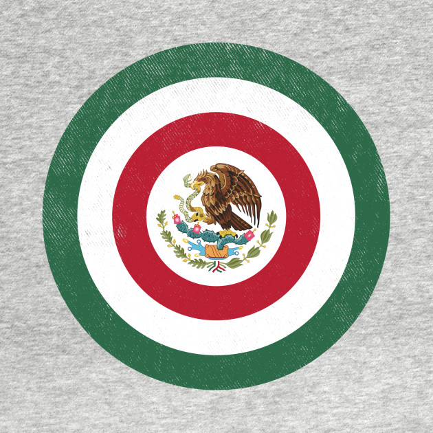 Captain Mexico Shield (in the style of Captain America)