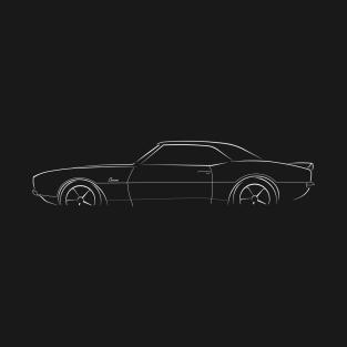 c937cee4 1967 - 1968 Chevy Camaro - profile stencil, white T-Shirt