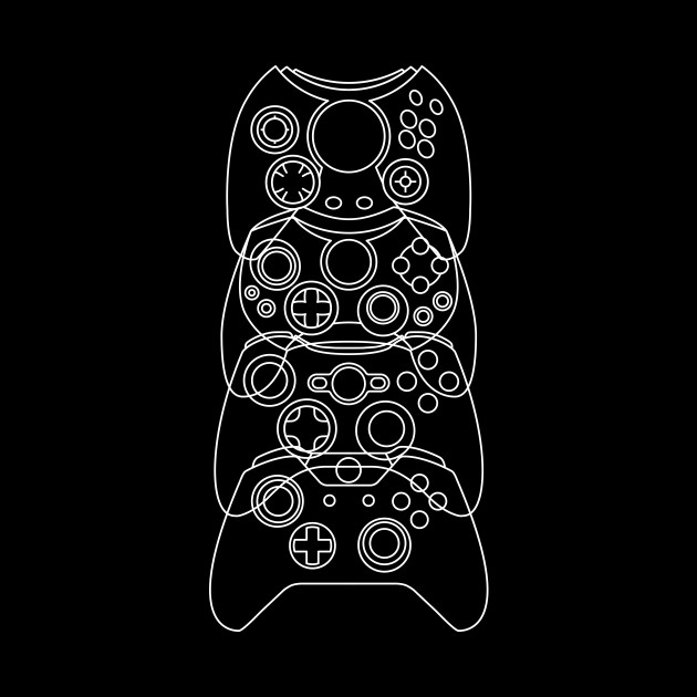 Xbox Controller Evolution (White Lines)