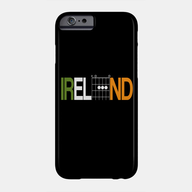 Ireland in Guitar chords - Guitar Chords - Phone Case | TeePublic