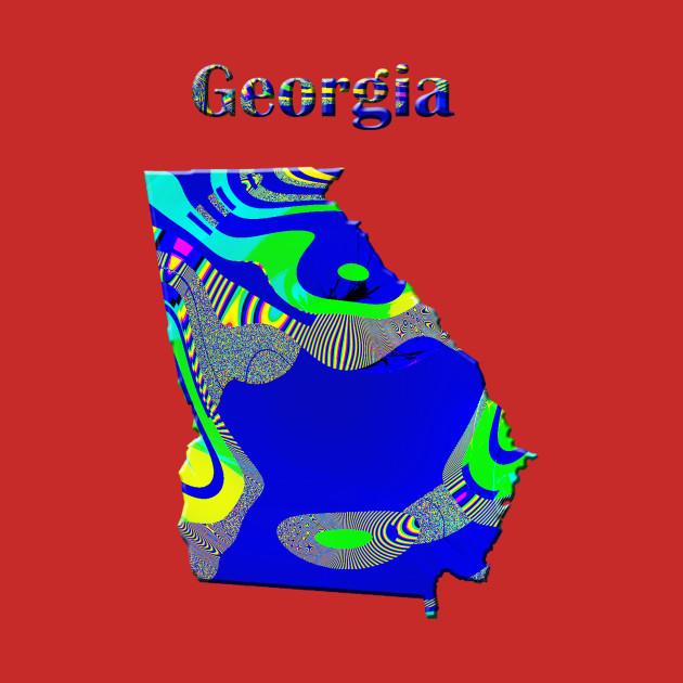 Georgia Map For Kids.Georgia Map Georgia Kids T Shirt Teepublic