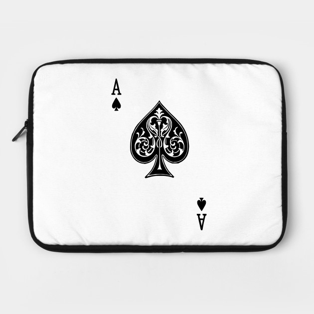 Ace Spades Spade Playing Card Game Ace Of Spades Laptop Case