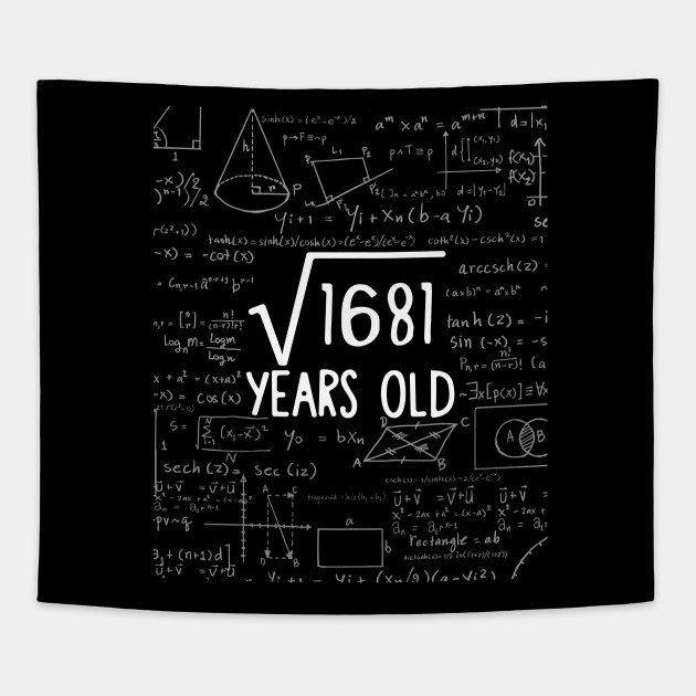 Square Root of 1681: 41th Birthday 41 Years Old T-Shirt