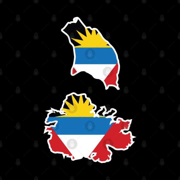 Antigua and Barbuda map flag designs