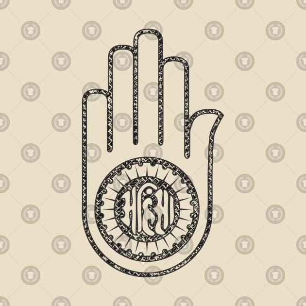 Jain Hand Symbol Of Jainism Jain Hand T Shirt Teepublic