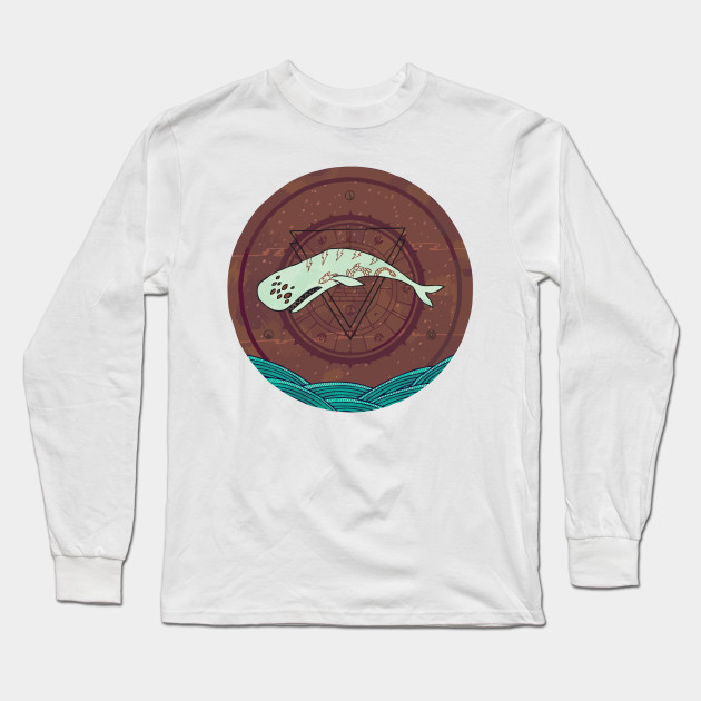 The Devil Roams These Waters Long Sleeve T-Shirt